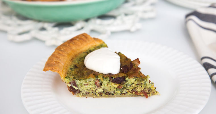 Spinach Bacon Quinoa Quiche